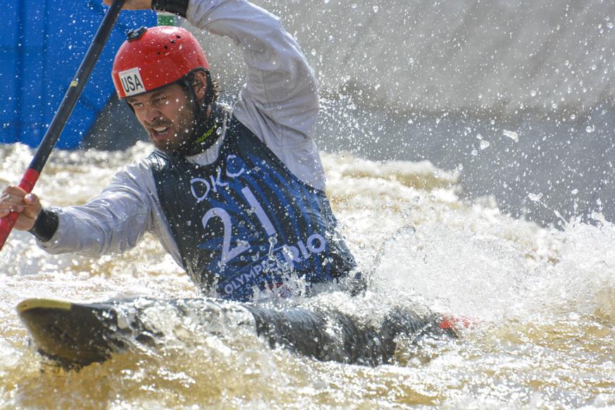 Slalom kayaker