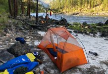 tents and river camping