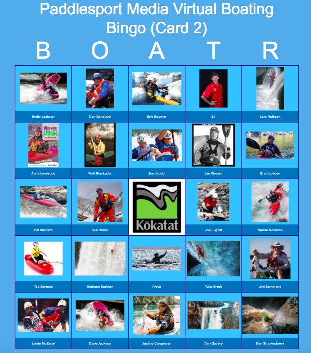 Paddlesports Bingo