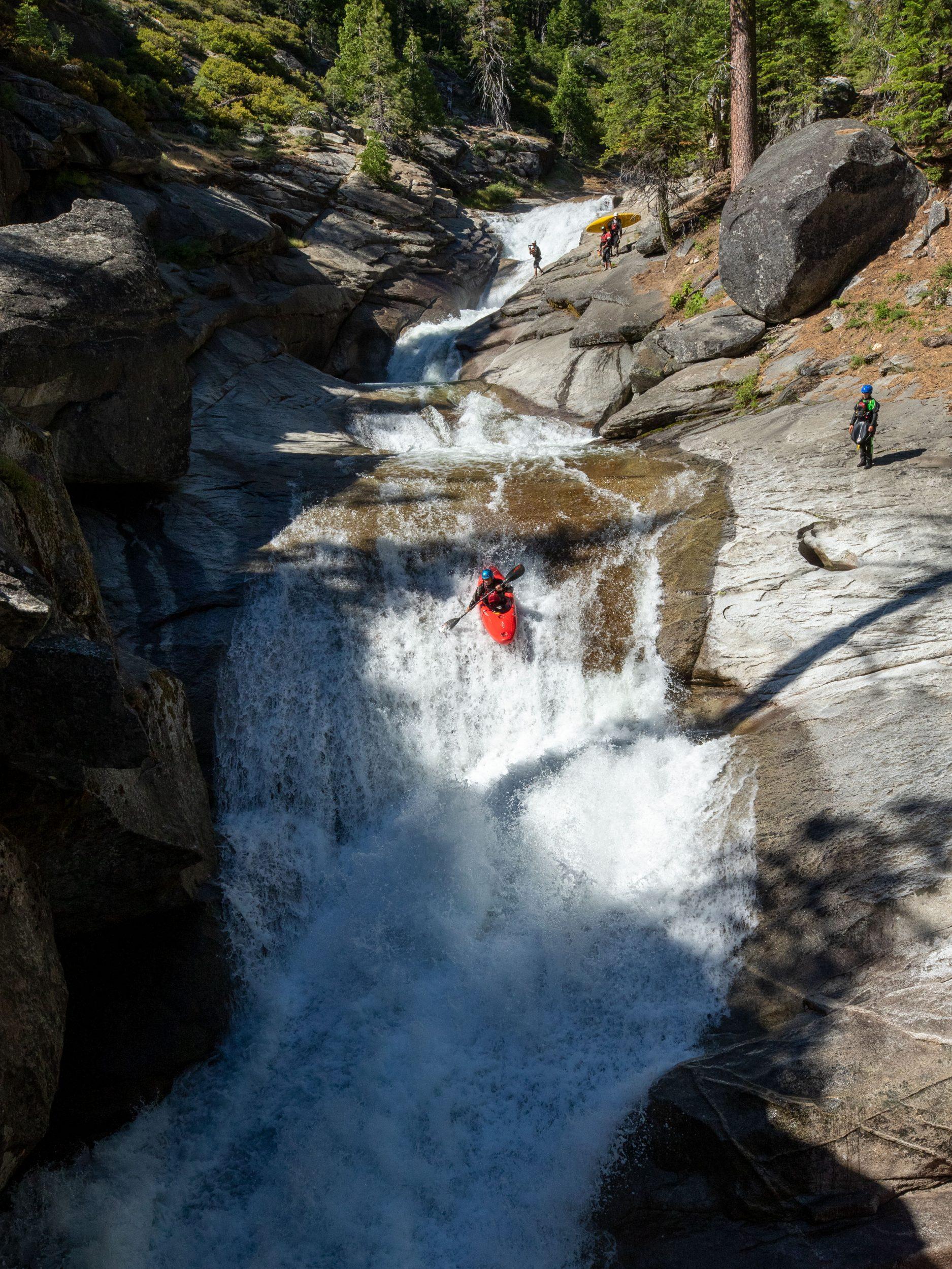 Kayaker kayaking South Silver