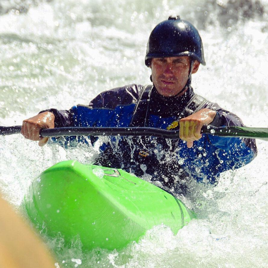 Scott Blankenfeld kayaking South Silver River