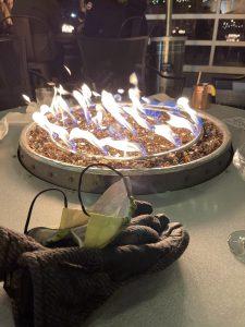 wine bar fire pit