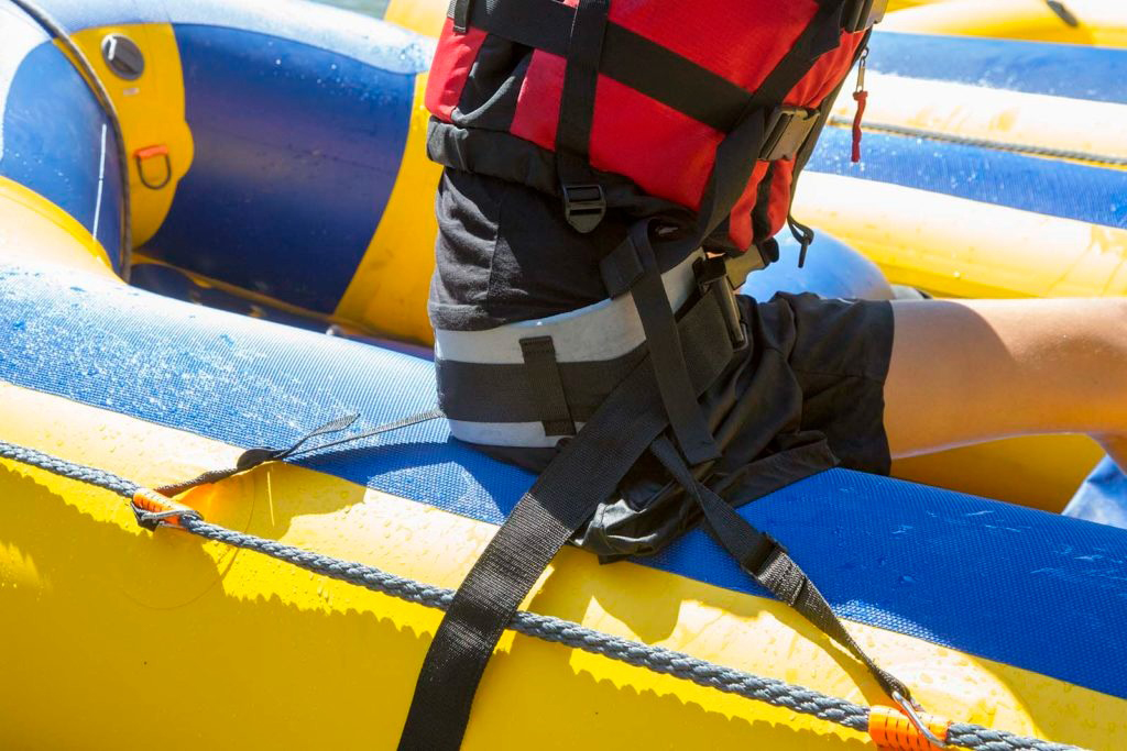 IRF Para Rafting harness in raft