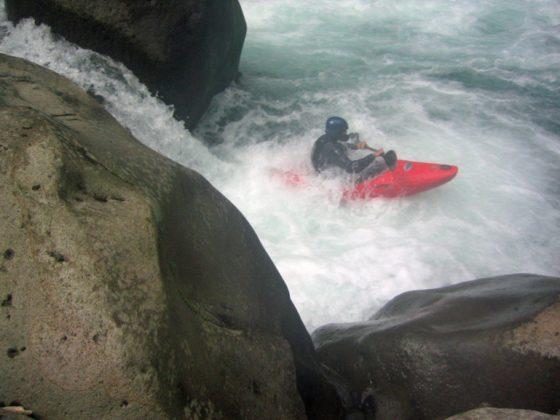 Kayaker kayling the Rio Patria