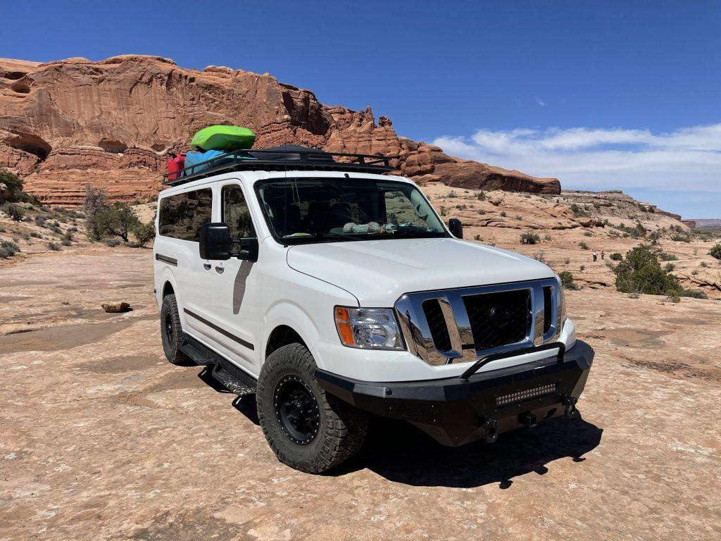 Paddling Life Nissan NV 3500 off road van for kayaking